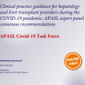 APASL COVID-19 Task Force has published clinical practice guidance!